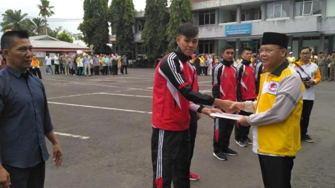 Tim Infight Bengkulu dilepas oleh Gubernur Bengkulu untuk mengikuti audisi IMMAF