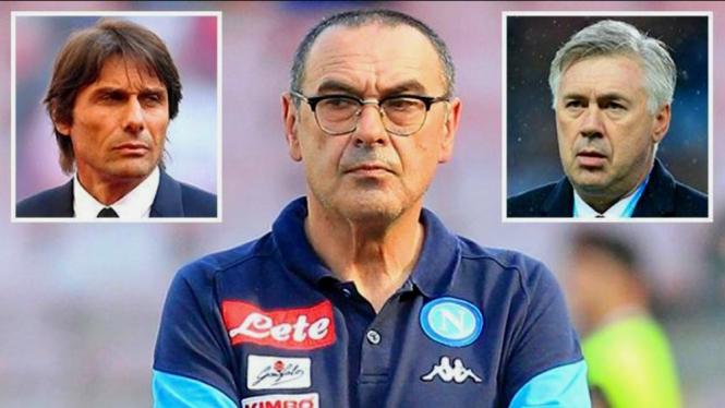 Tiga mantan manajer Chelsea akan saling sikut di Serie A musim 2019/2020
