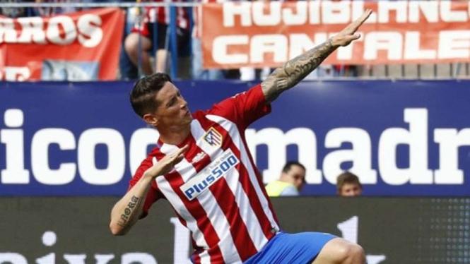 Fernando Torres saat masih memperkuat Atletico Madrid