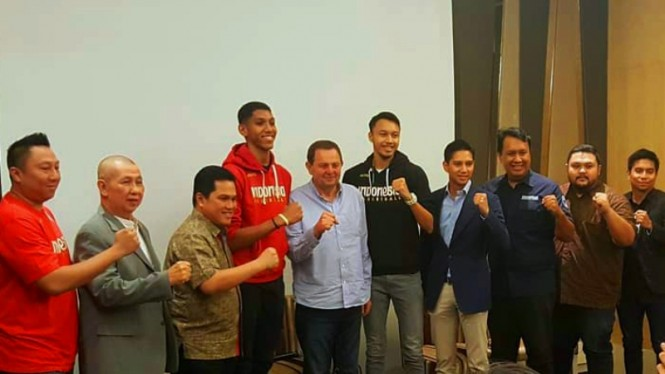 Konferensi pers PP Perbasi terkait Kepala Pelatih Timnas Basket Indonesia