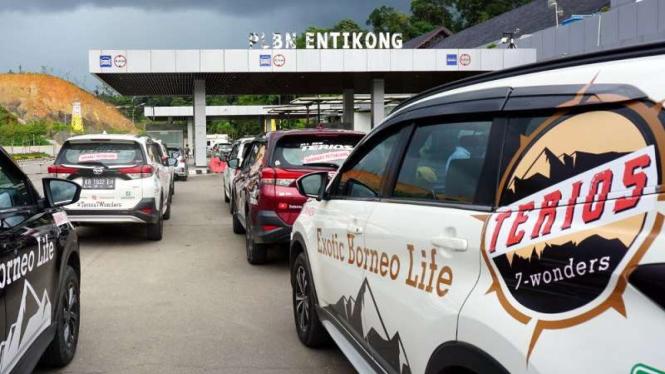 Perbatasan Entikong di Sanggau, Kalimantan Barat
