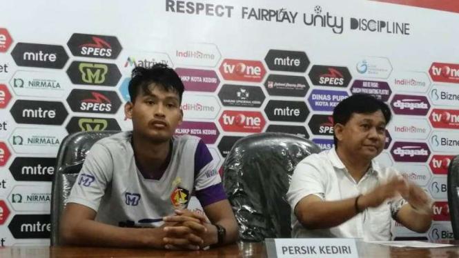 Konferensi pers usai laga pembuka Liga 2, Persik Kediri vs PSBS Biak