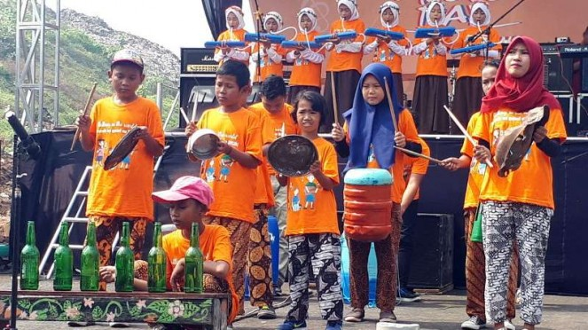 Pagelaran Make Music Day di Bantargebang, Bekasi