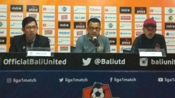 Konferensi pers usai laga Liga 1, Bali United vs PSIS Semarang