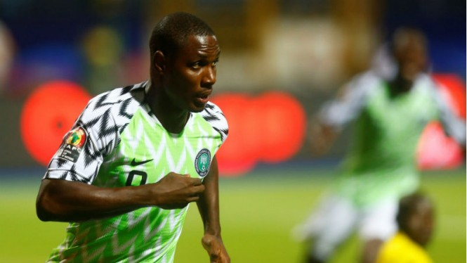 Striker Nigeria, Odion Ighalo, usai jebol gawang Burundi