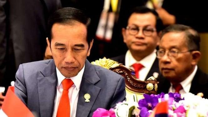 Presiden Joko Widodo saat Pleno Konferensi Tingkat Tinggi ke-34 ASEAN.