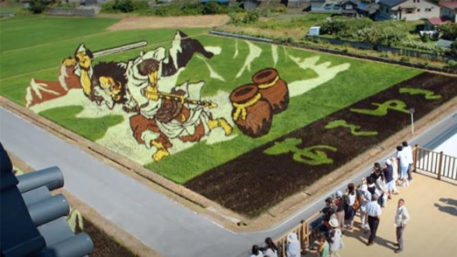 Desa padi mural