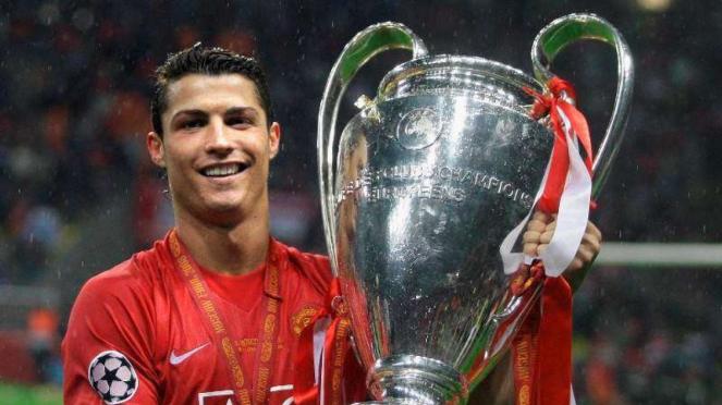 Cristiano Ronaldo saat membawa Manchester United juara Liga Champions 2007/2008