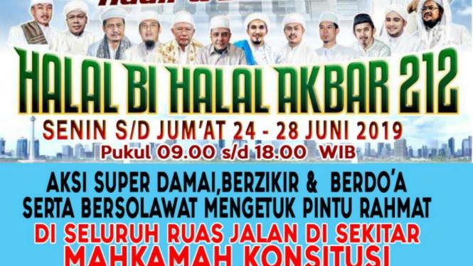 Selebaran Halal Bi Halal Akbar 212.