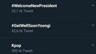Tagar #WelcomeNewPresident di Twitter