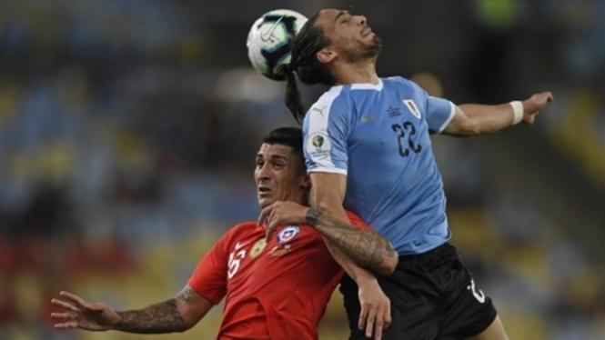 Pertandingan Chile melawan Uruguay di Copa America 2019