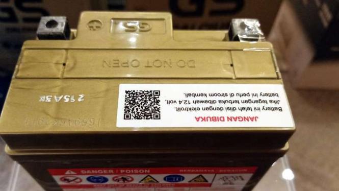 Aki GS Astra dengan barcode