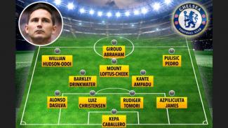 Prediksi skema formasi skuat Chelsea bersama Frank Lampard