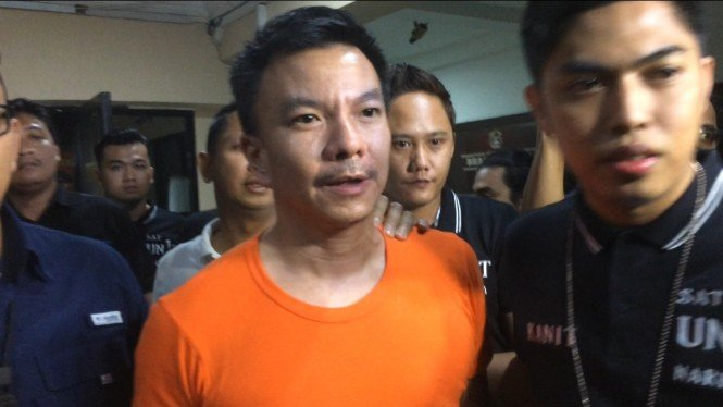 Jerry Aurum di Polres Jakarta Barat.