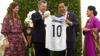 Presiden Argentina, Mauricio Macri dan Presiden Indonesia, Joko Widodo