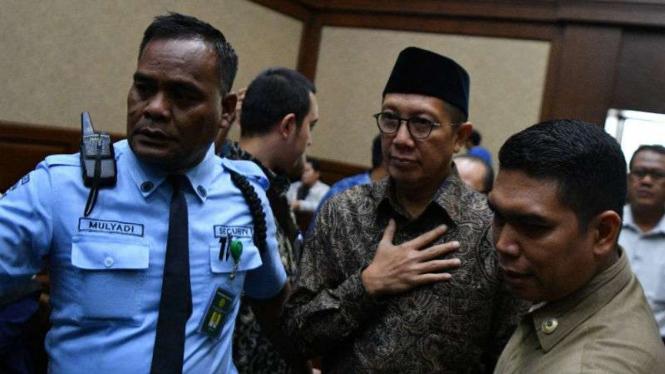 Menag Lukman Hakim Saifuddin, menjadi saksi sidang kasus suap jual beli jabatan