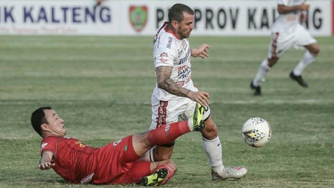 Pertandingan Kalteng Putra vs Bali United