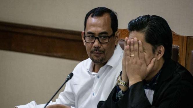 Terdakwa mantan Kepala Kanwil Kemenag Jawa Timur Haris Hasanuddin di Tipikor