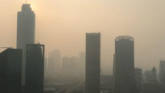 Polusi udara di Jakarta beberapa waktu lalu.