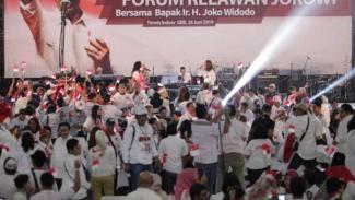 Relawan Jokowi menggelar acara halal bi halal, Rabu, 26 Juni 2019.