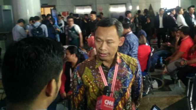 Komisioner KPU Pramono Ubaid Tantowi di MK, Kamis, 27 Juni 2019.