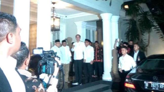 Jokowi dan Ma'ruf Amin akan gelar konferensi pers di Halim Perdanakusuma.