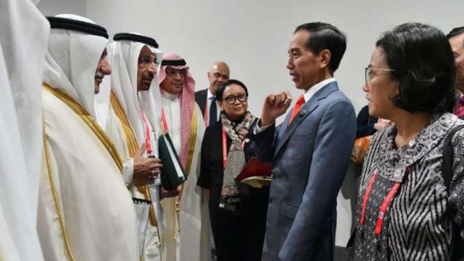 Jokowi dan para menteri dari Arab di KTT G-20