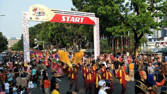 Gubernur DKI Jakarta Anies Baswedan membuka Jakarnaval 2019