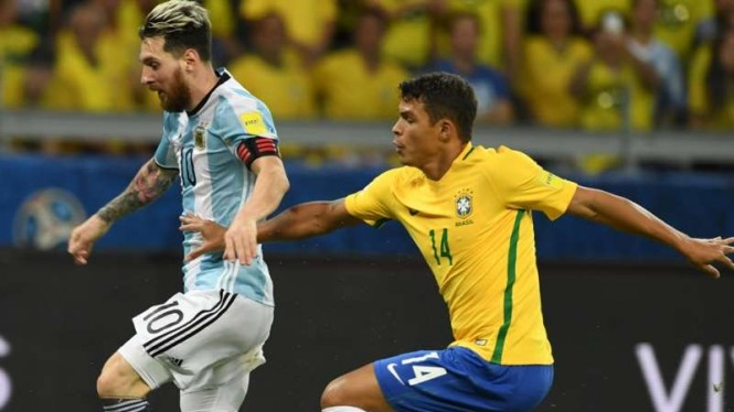 Pertandingan Timnas Brasil melawan Argentina