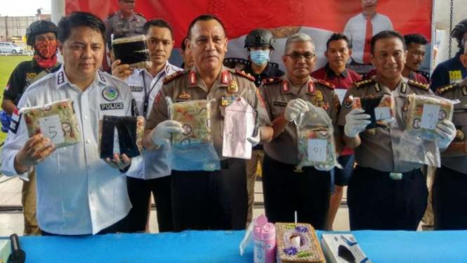 Polda Sumsel berhasil cegah peredaran 9 Kilogram Sabu dari Aceh.
