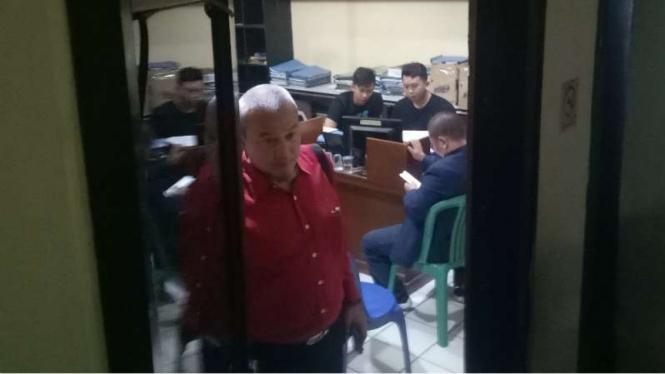 Suasana di ruang pemeriksaan Markas Kepolisian Resor Bogor, Jawa Barat.