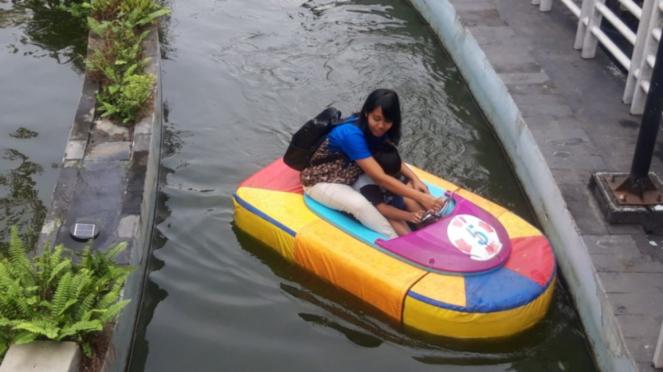 Wisata air di Taman Pintar Yogyakarta
