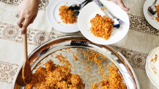 Ilustrasi makanan/kuliner halal.