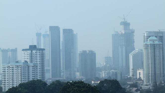 Ilustrasi: Kondisi udara di Jakarta yang penuh polusi beberapa waktu lalu.
