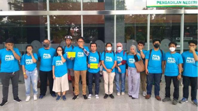 Koalisi tuntut udara bersih melakukan aksi di Jakarta, 4 Juli 2019.