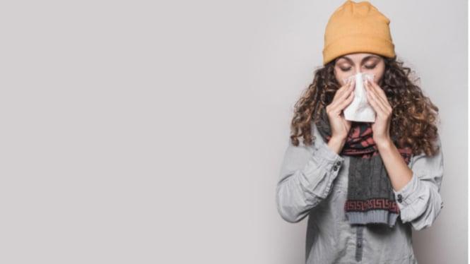 Ilustrasi influenza/flu/bersin/pilek.