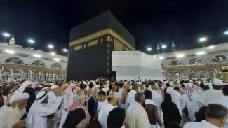 Suasana Masjidil Haram, Mekah, Arab Saudi, Jumat, 5 Juli 2019.