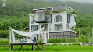 Rumah di pinggiran kota Guangzhou, provinsi Guangdong