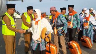 Jemaah haji asal asal Sumatera.
