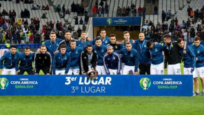 Argentina sabet peringkat 3 Copa America 2019.