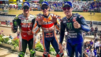 Pembalap Repsol Honda, Marc Marquez menyabet podium MotoGP Jerman