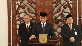 Gubernur DKI Jakarta Anies Baswedan di Balai Kota, Senin, 8 Juli 2019.