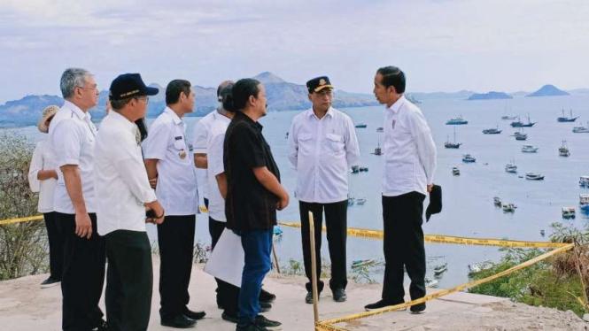 Presiden Jokowi kunjungi Labuan Bajo, NTT, Rabu, 10 Juli 2019.