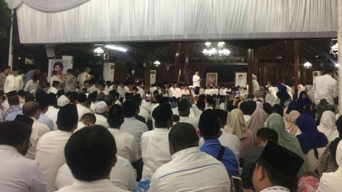 Keluarga SBY menggelar tahlilan 40 hari meninggalnya Ani Yudhoyono.