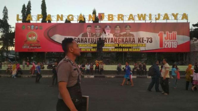 HUT ke-73 Bhayangkara di Jatim digelar Markas Kodam V/Brawijaya di Surabaya.