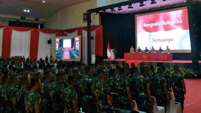 785 Capaja TNI-Polri terima pembekalan di Mabes TNI Cilangkap