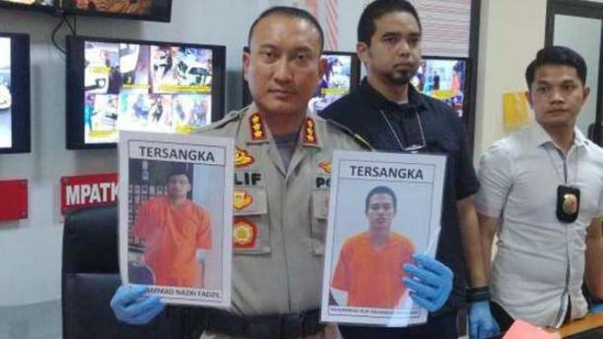Polres Resor Kota Tangerang merilis pelaku perampokan di Tangerang