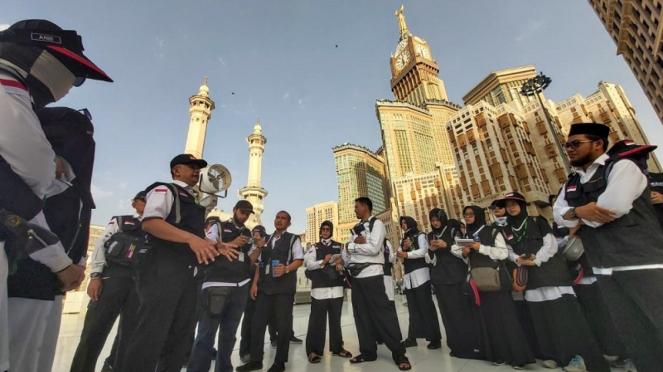 Sektor khusus Petugas Haji ndonesia melakukan orientasi lapangan
