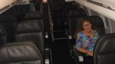 Mary McCormick, satu-satunya penumpang di pesawat tersebut