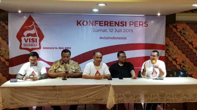 Konferensi pers acara Visi Indonesia, di Jakarta, Jumat, 12 Juli 2019.